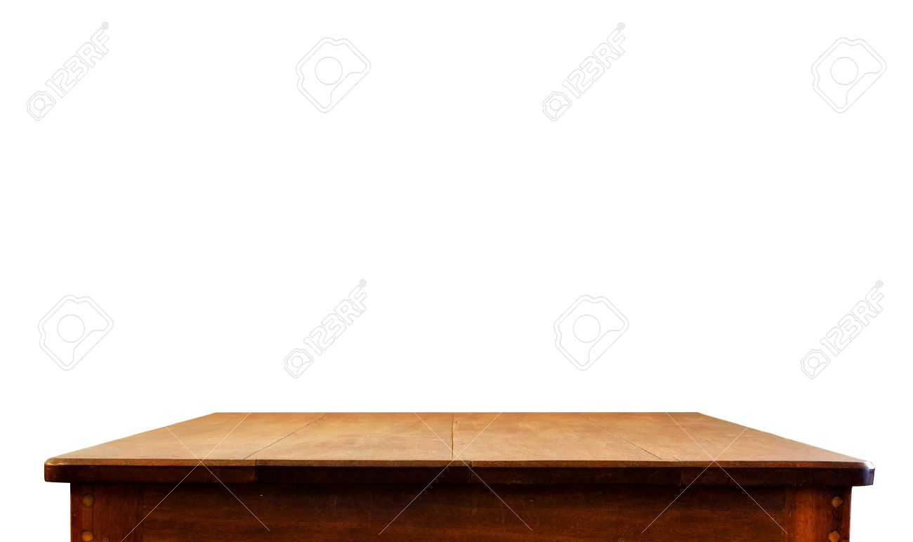 dark wood and white table