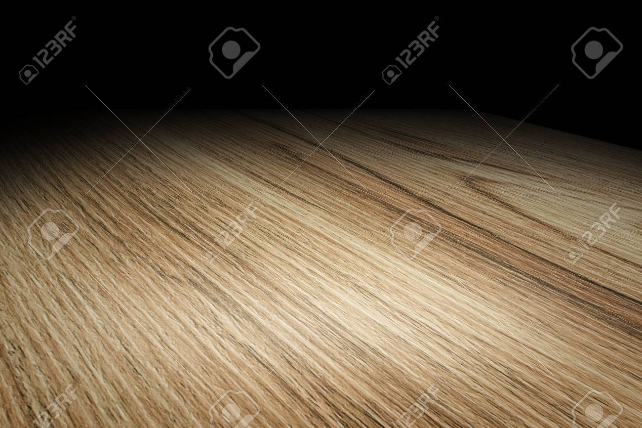 wood floor perspective. Perspective Plain Wooden Floor Fade To Black Background, Template Mock Up For Display Of Product Wood T