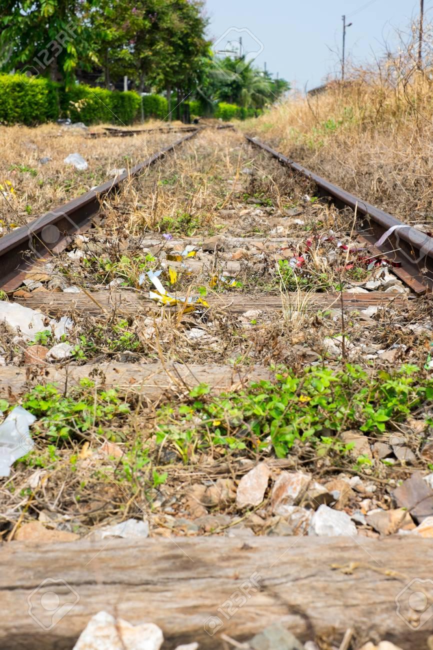 Freie Bahn-Wege-Schalter Track Mit Gelben Würfel Gras .. Lizenzfreie ...