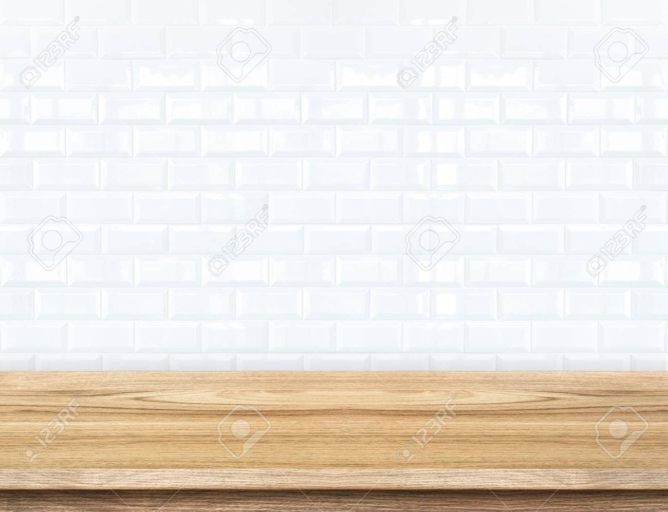 Ceramic tile shine products choice image tile flooring design ideas empty wood table and ceramic tile brick wall in background empty wood table and ceramic tile dailygadgetfo Gallery