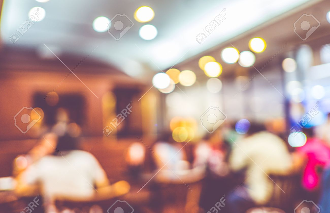Restaurant Background With People blurred background : customer at restaurant blur background with