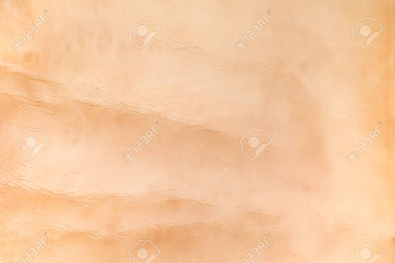 Close up nude color crumpled leather texture background. Stock Photo -  53775043