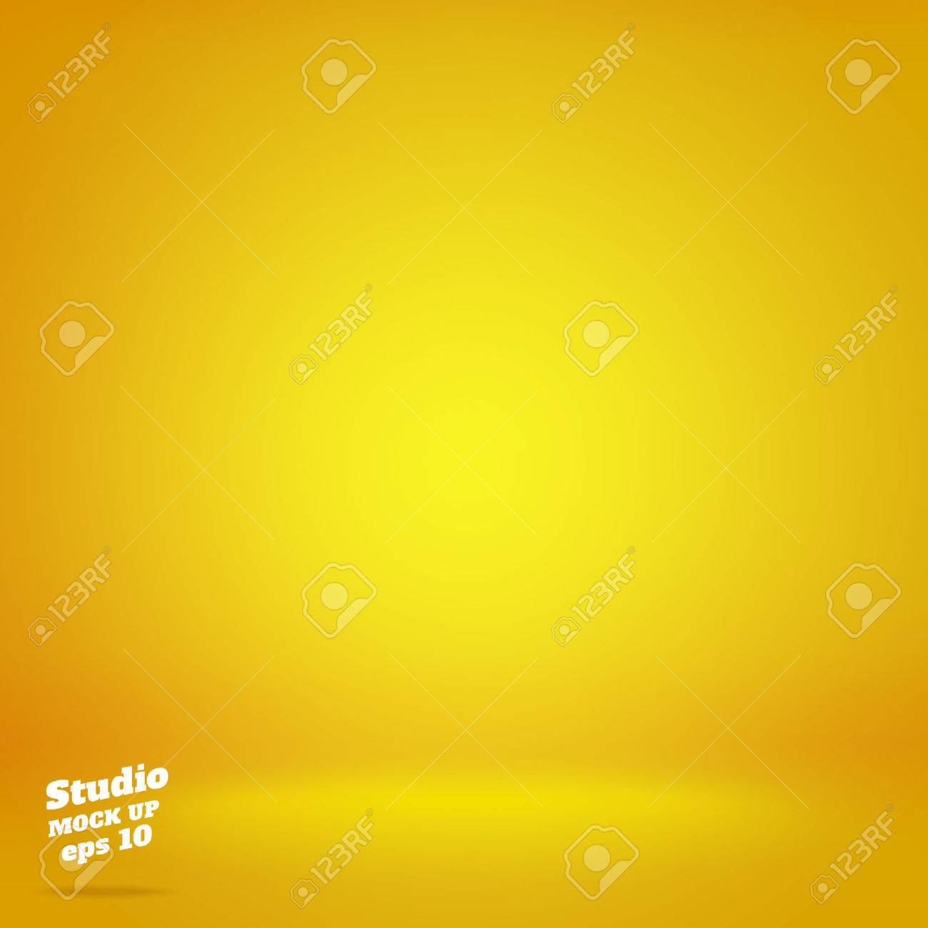 Vector,Empty vivid lighting yellow studio room background ,Template mock up for display or montage of product,Business backdrop. - 59621428