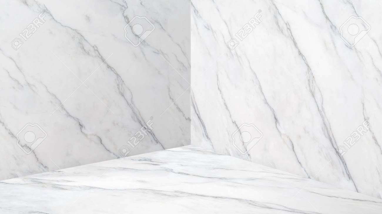 Empty White Glossy Marble Corner Studio Room Background Mock Stock Photo Picture And Royalty Free Image Image 89042160