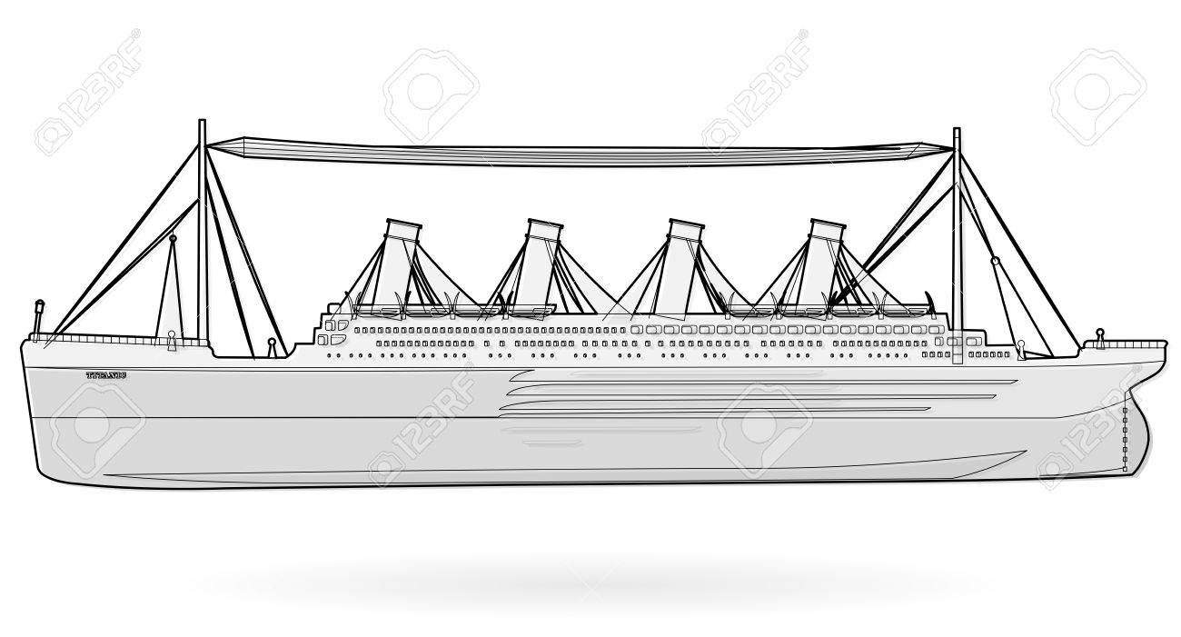 Big Boat Legendary Colossal Boat, Black And White Wire Monumental ...