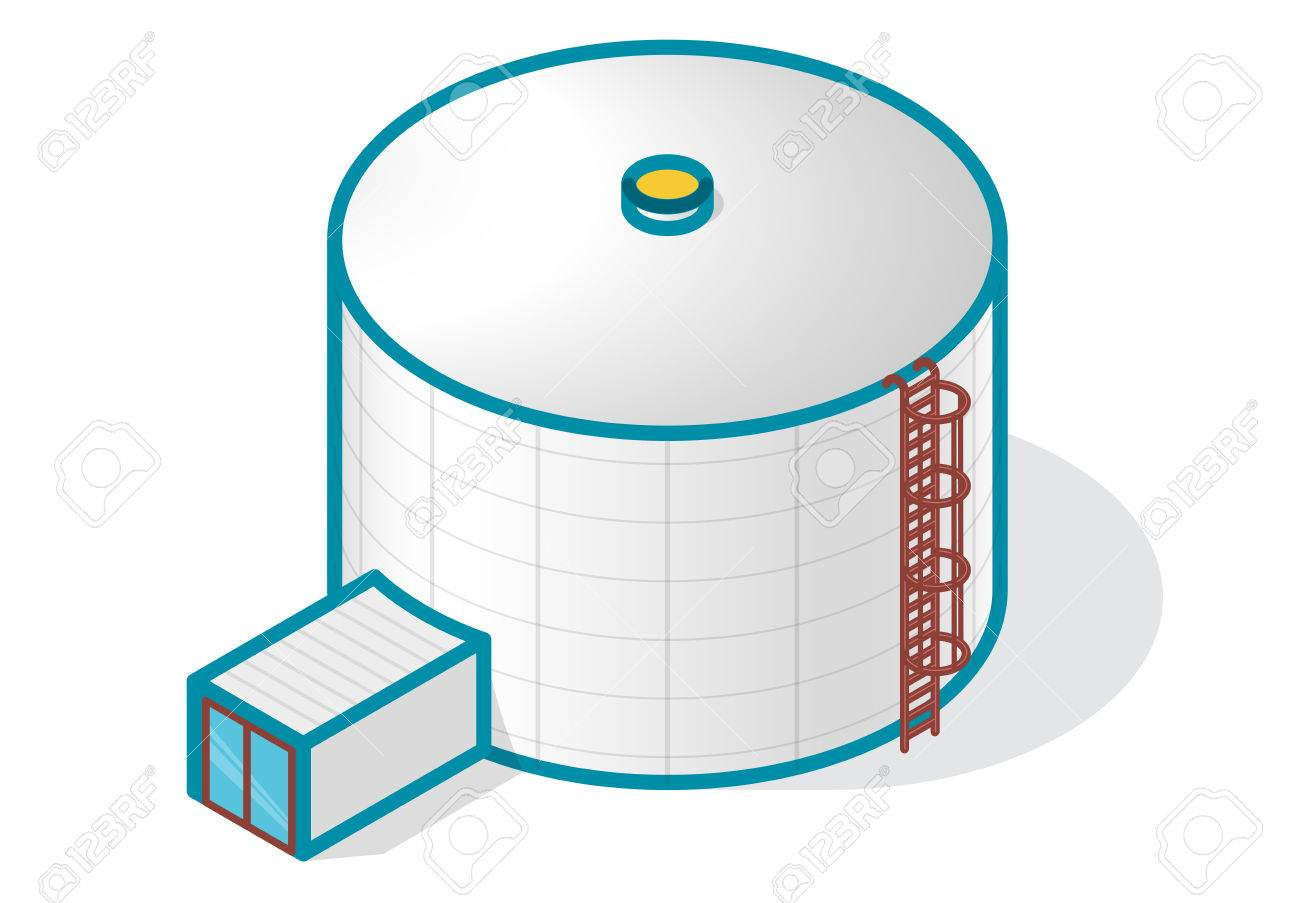 A Tank For Storing Water Gas Oil Oxygen And Other Solid Fuels