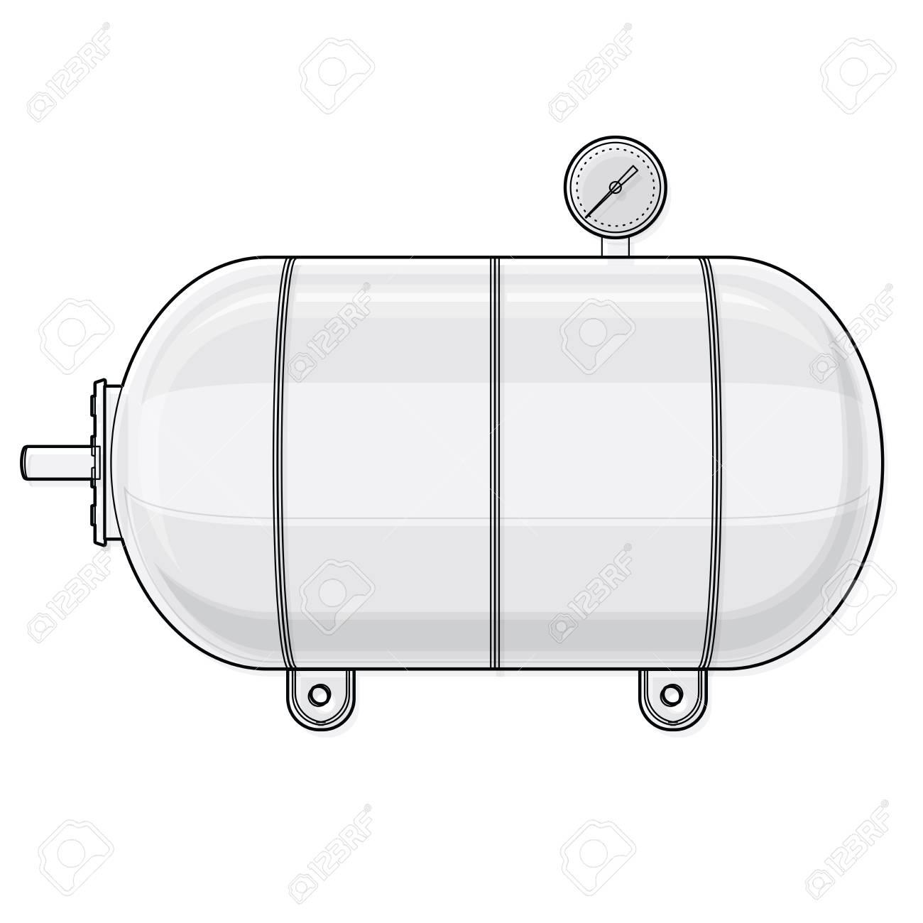 umrissener druckbehälter für wasser, gas, luft. druckbehälter zur