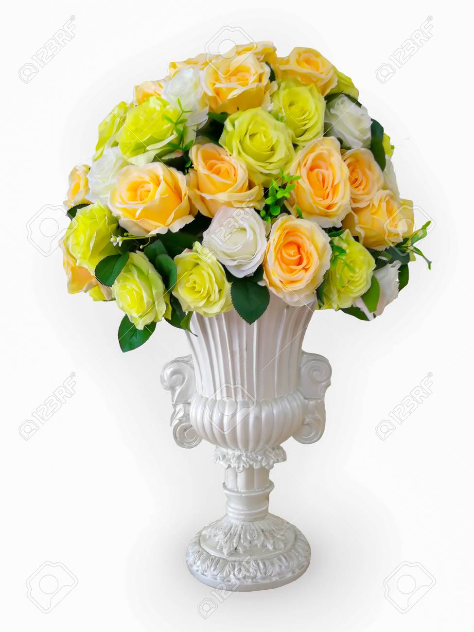 Artificial Flowers Roses From Foam Pink Blue And White Red Yellow Stock Photo Picture And Royalty Free Image Image 98216277