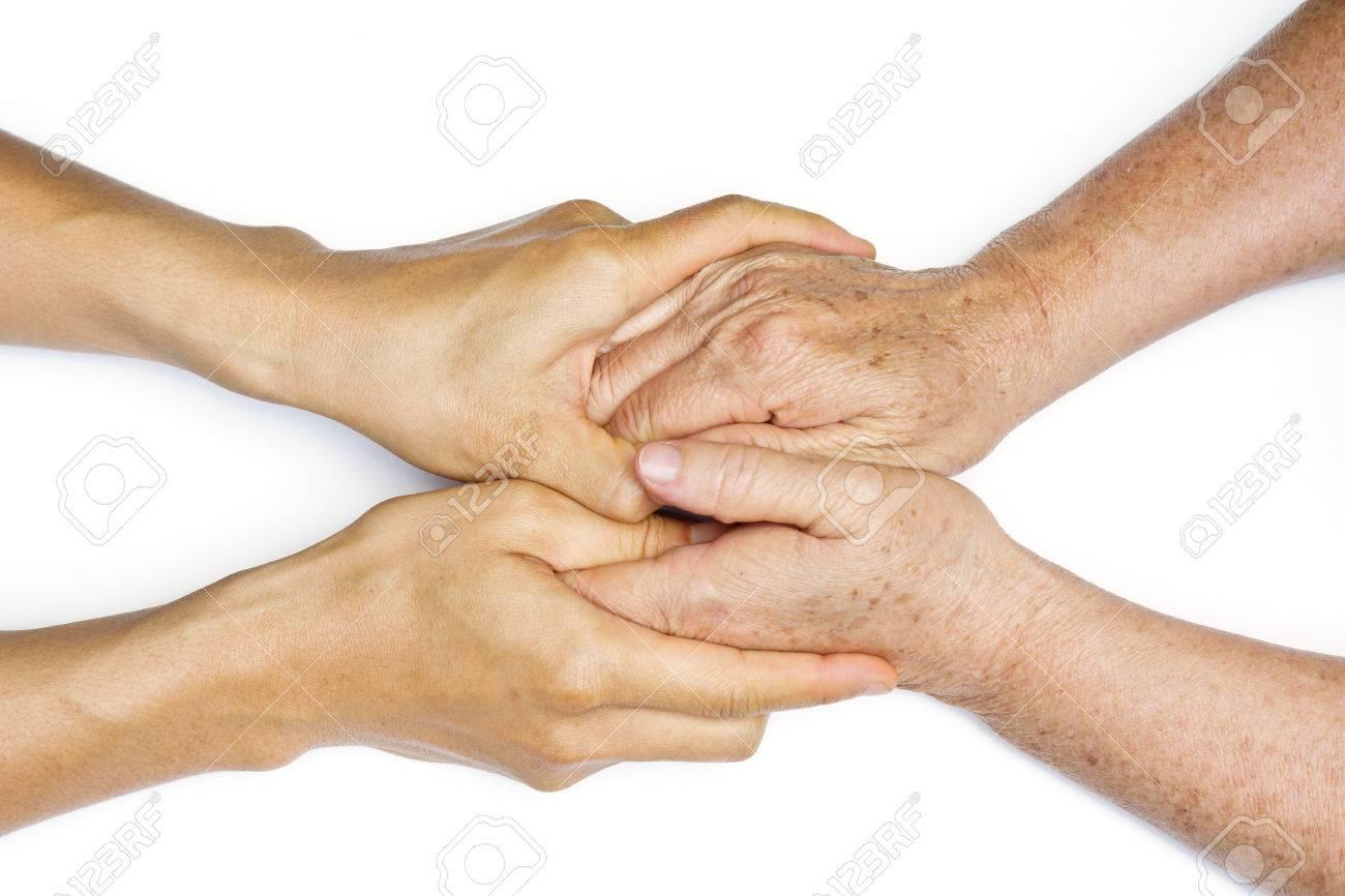 Фото руки стариков