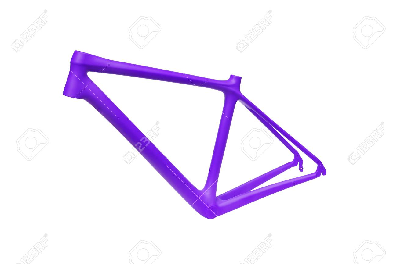 Purple Bicycle Frames Isolated Stock Photo, Picture And Royalty Free ...