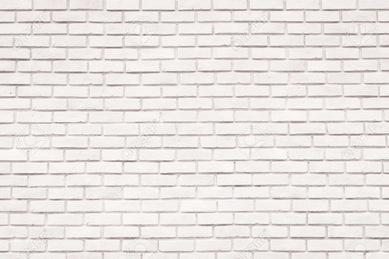 White brick wall background for design and decoration - 143654913