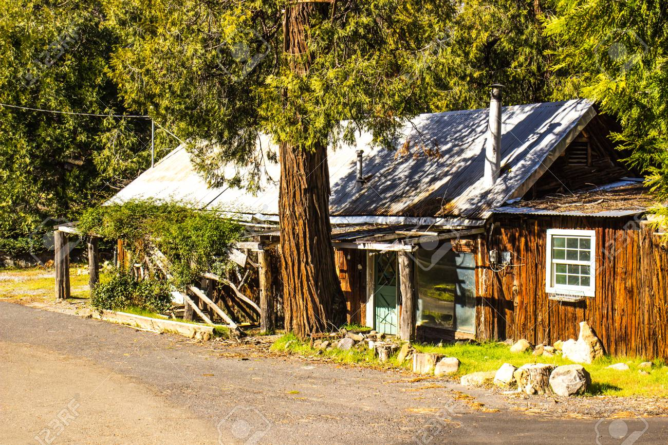 Rustic Mountain Cabin In Mountains Stock Photo Picture And Royalty Free Image Image 73636627