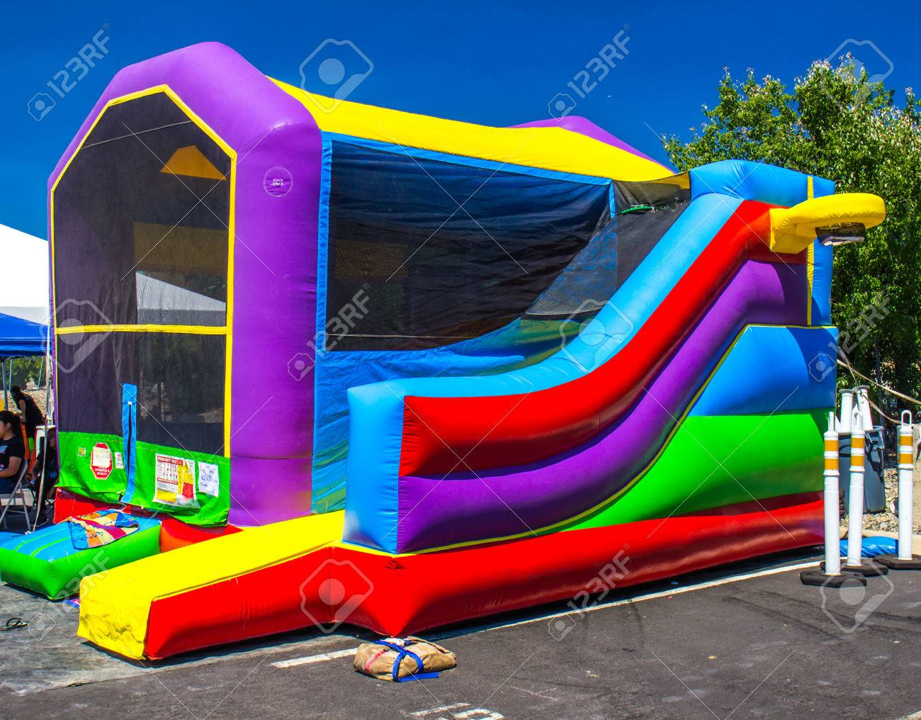 bounce ball house for kids stock photo picture and royalty free