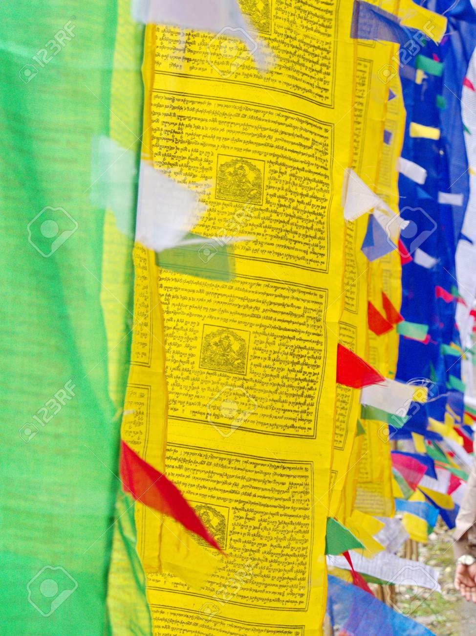 Tibetan Prayer Flag for Faith, peace, wisdom, compassion, and