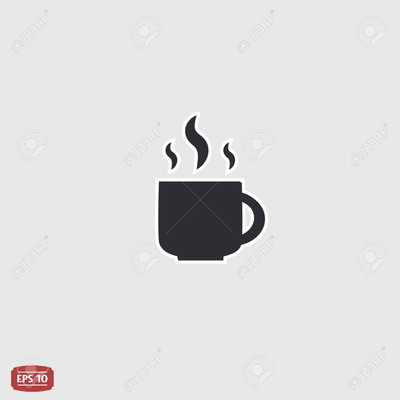 Coffee Cup Flat Icon Coffee Cup Icon Tea Cup Flat