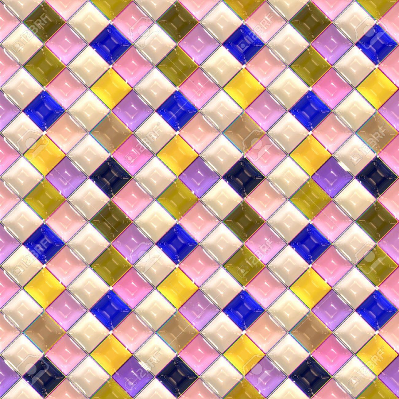 d textura perfecta de azulejos de colores pastel brillante foto de archivo