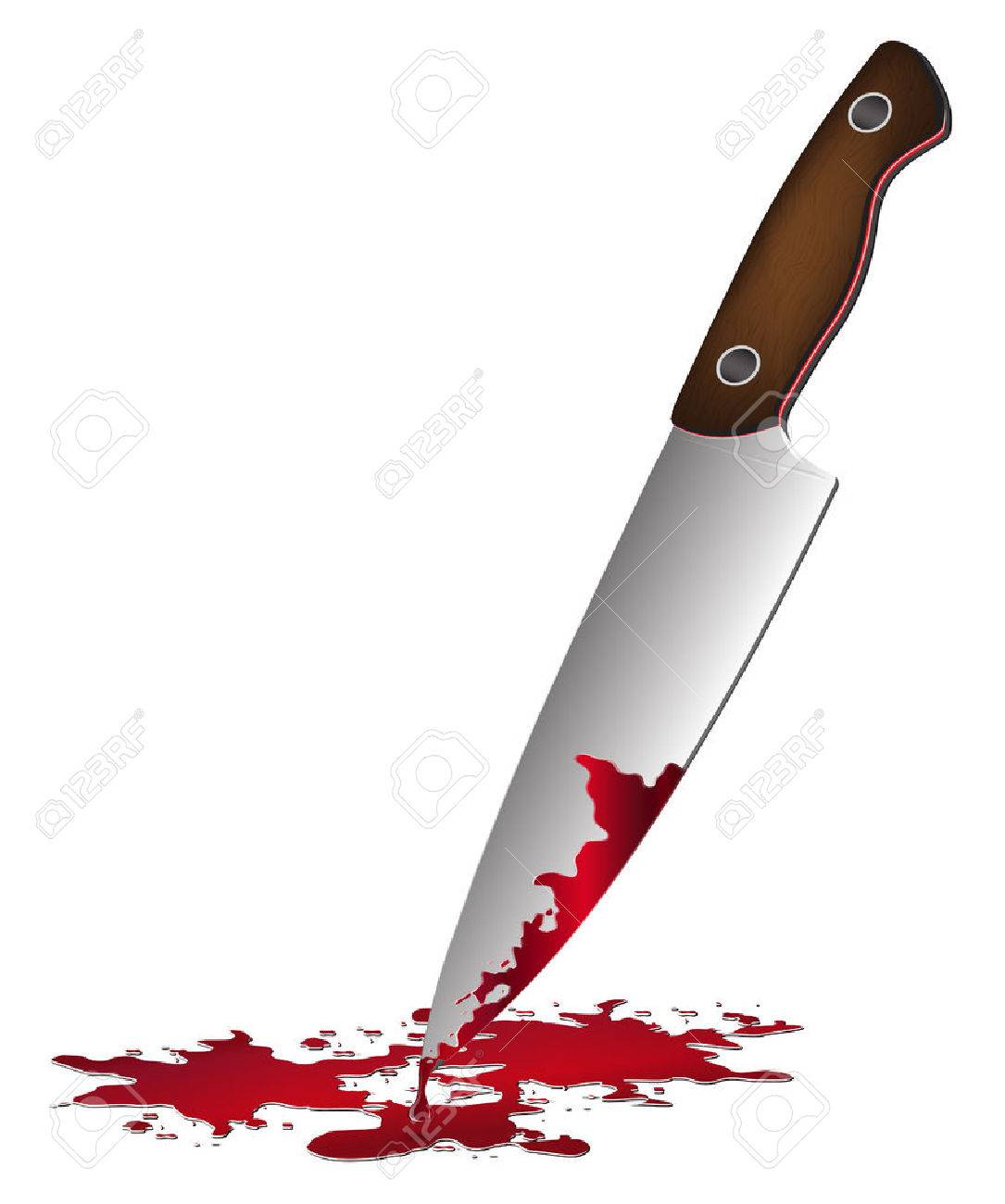 realistic bloody knife knife with blood vector illustration rh 123rf com Bone Clip Art Fire Clip Art