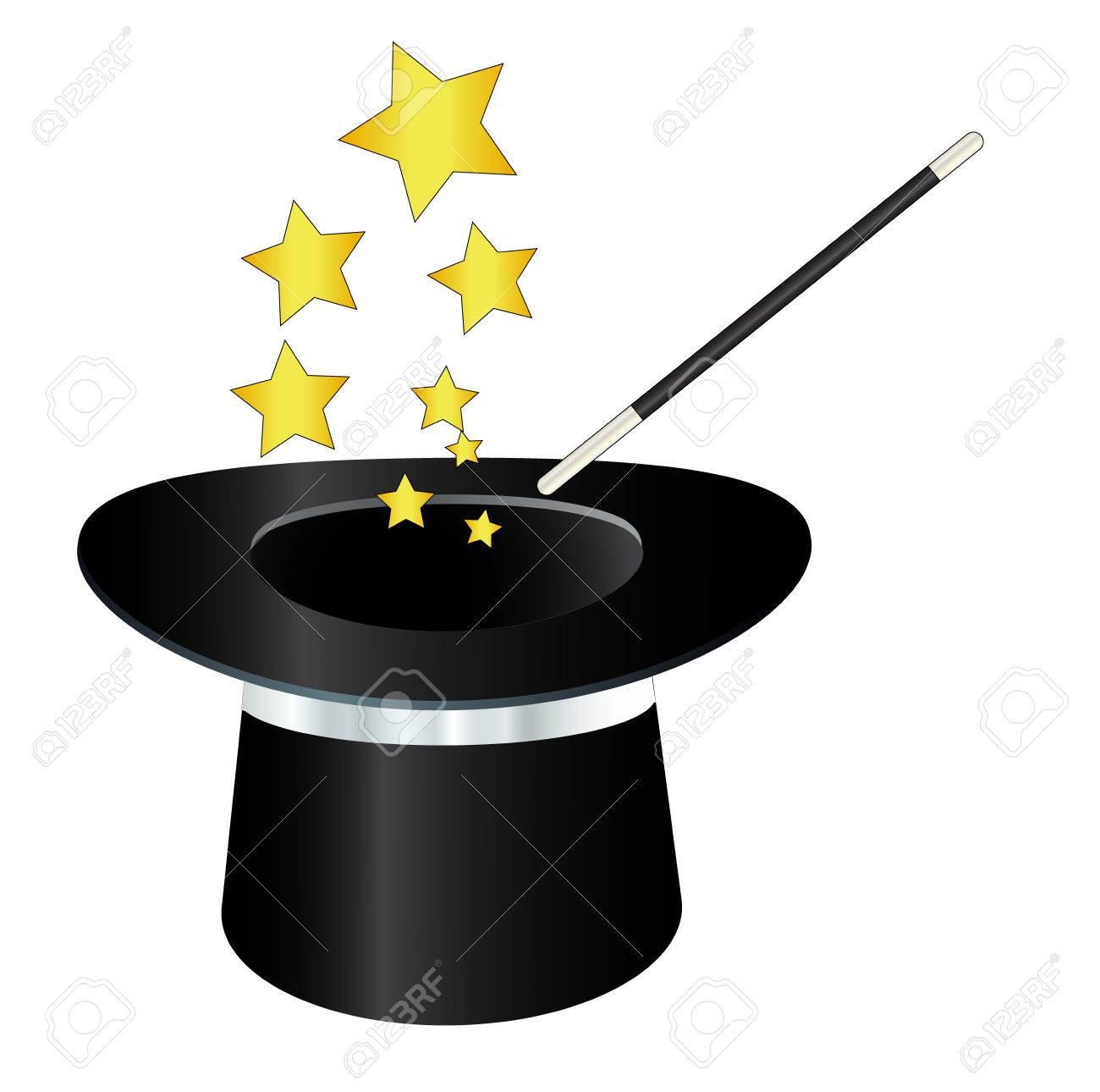 d9c7c46928c Cilindro sombrero mágico con la varita