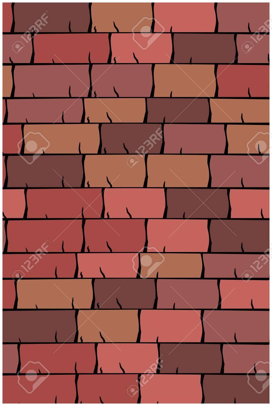 Dachziegel textur seamless  Vector Textur Illustration Von Seamless Roten Dachziegeln ...