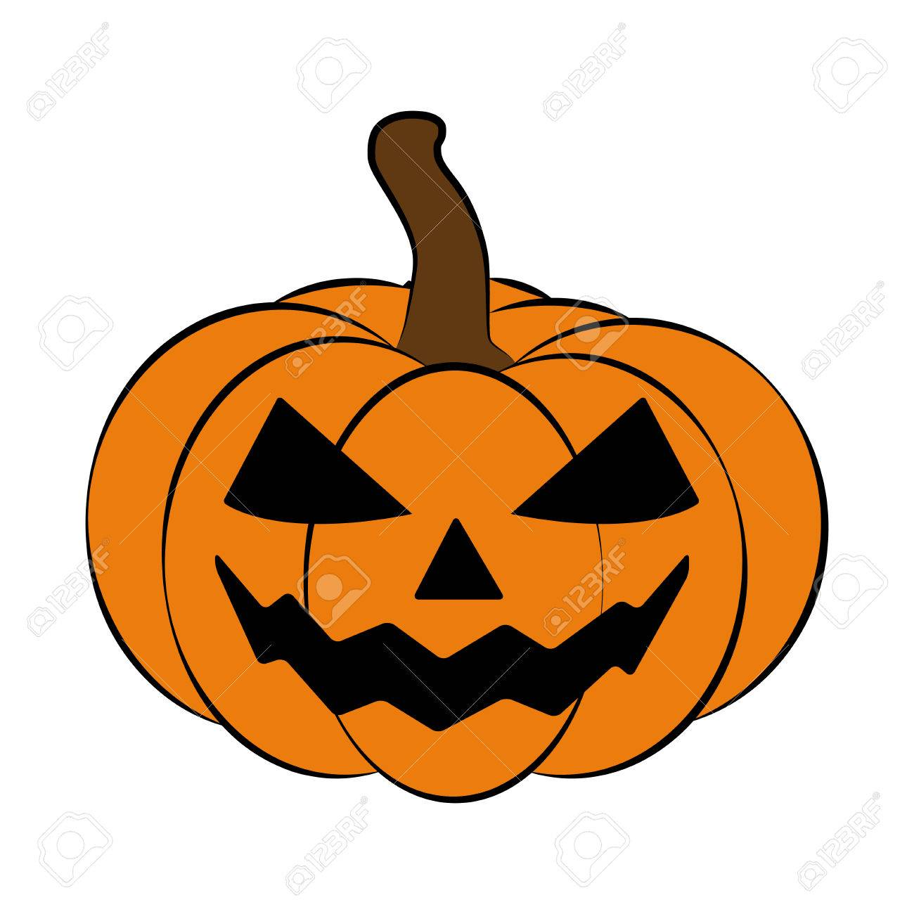 Halloween Pumpkin Vector.Halloween Pumpkin Vector Illustration Jack O Lantern Isolated