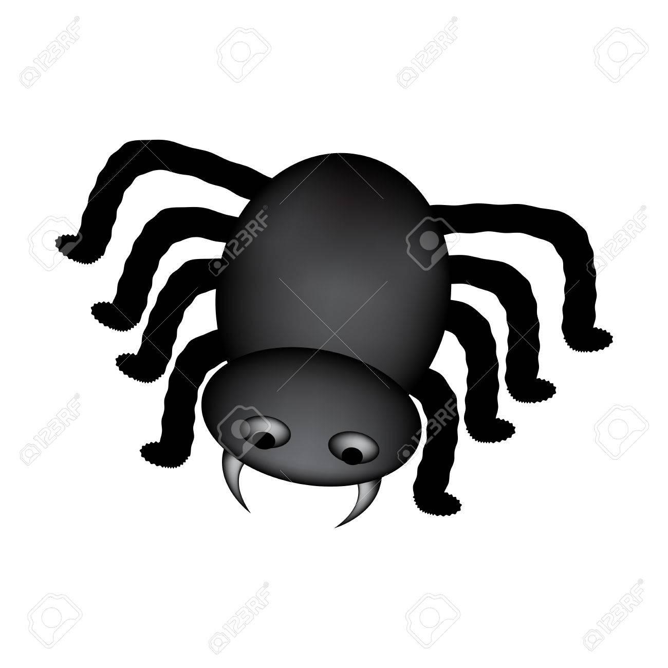 Image Araignée Halloween icône araignée halloween, symbole gradient mesh. clip art libres de