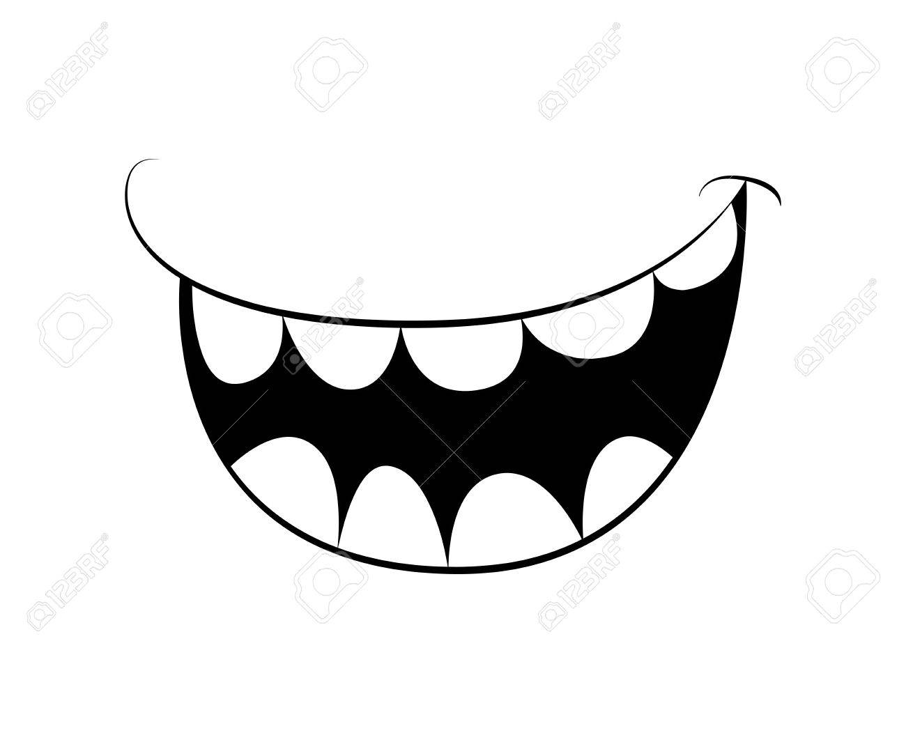cartoon smile mouth lips with teeth vector silhouette outline rh 123rf com mouth vector icon mouth vector man
