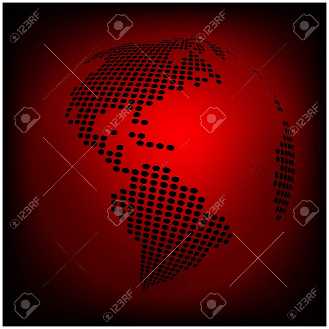 Globe earth world map abstract dotted vector background red globe earth world map abstract dotted vector background red wallpaper illustration stock vector gumiabroncs Gallery