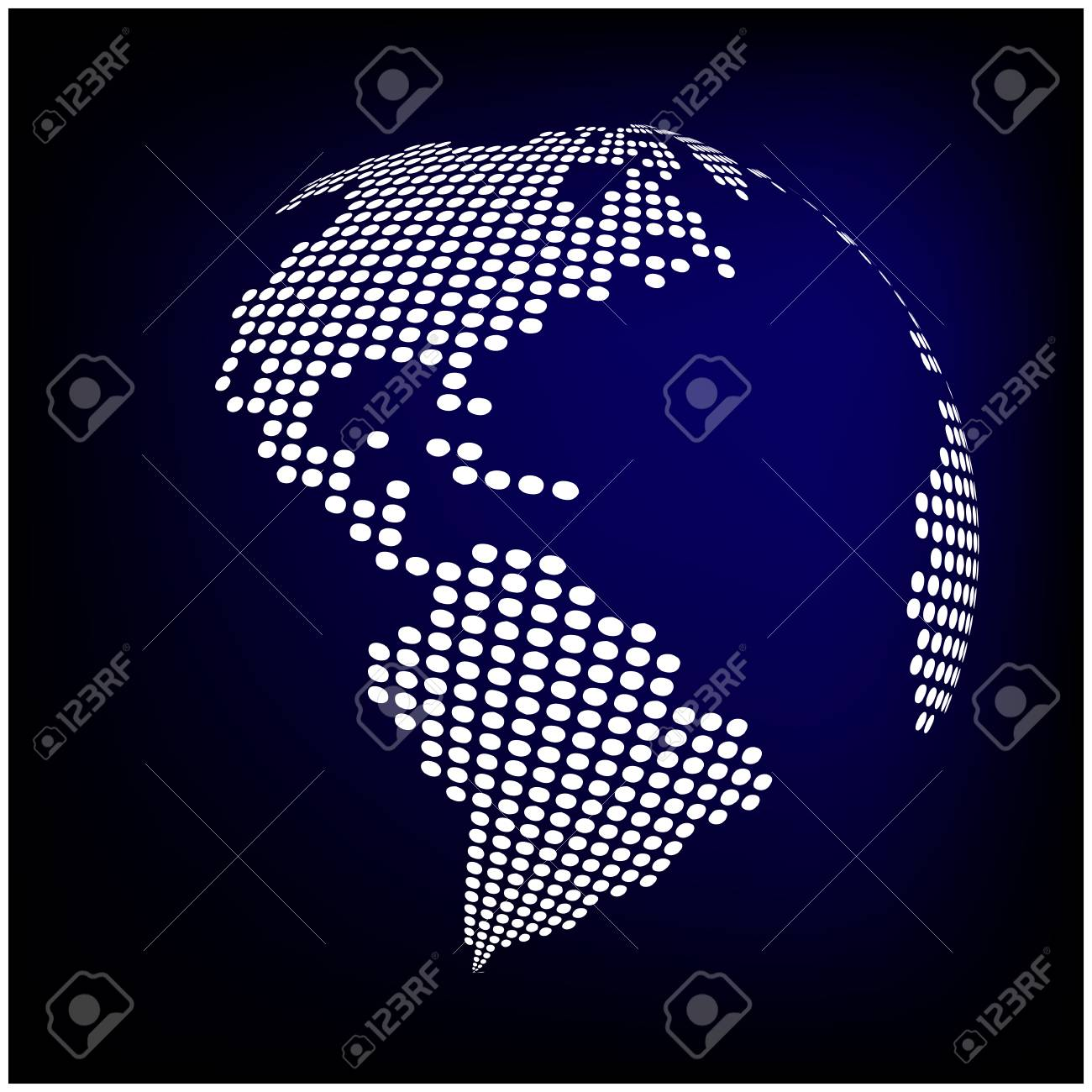 Globe earth world map abstract dotted vector background blue globe earth world map abstract dotted vector background blue wallpaper illustration foto de archivo gumiabroncs Images
