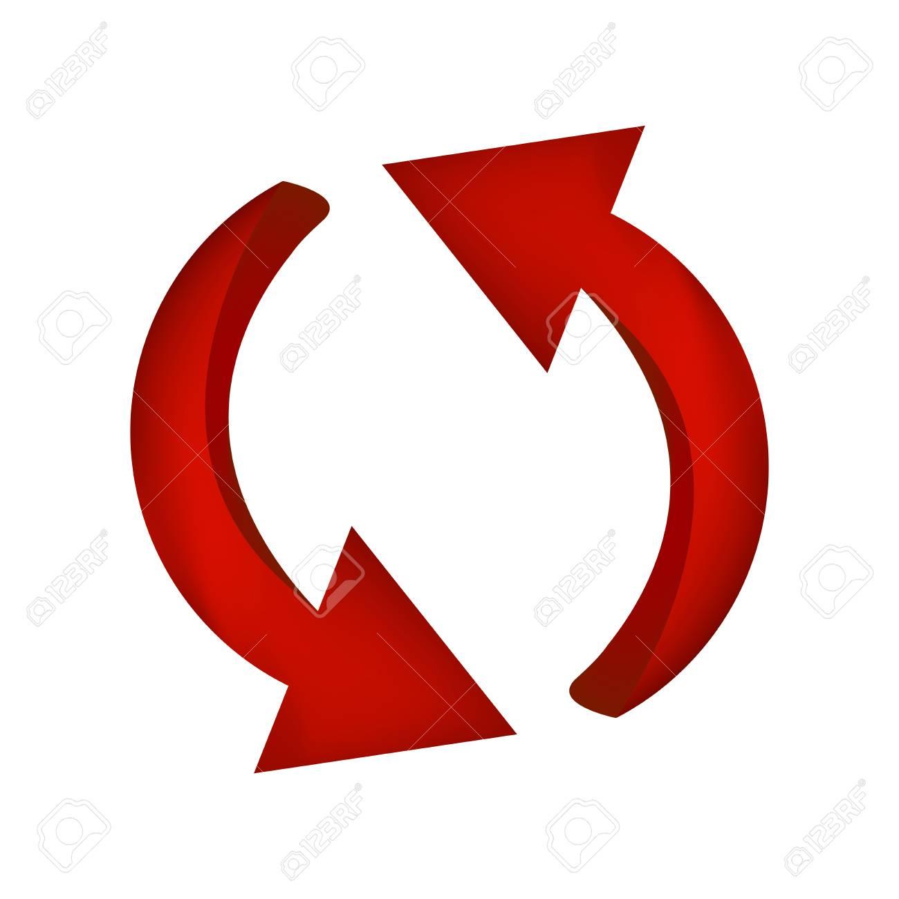 矢印シンボル赤いアイコン クリップアート ビジネス コンセプトです