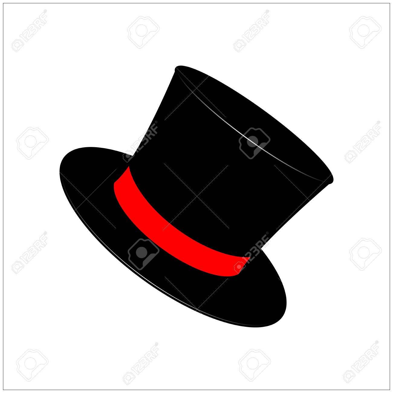 6d9fa73ac3e Sombrero mágico, caballero del sombrero de cilindro con el icono de cinta,  símbolo, diseño. ilustración vectorial aislado sobre fondo blanco.