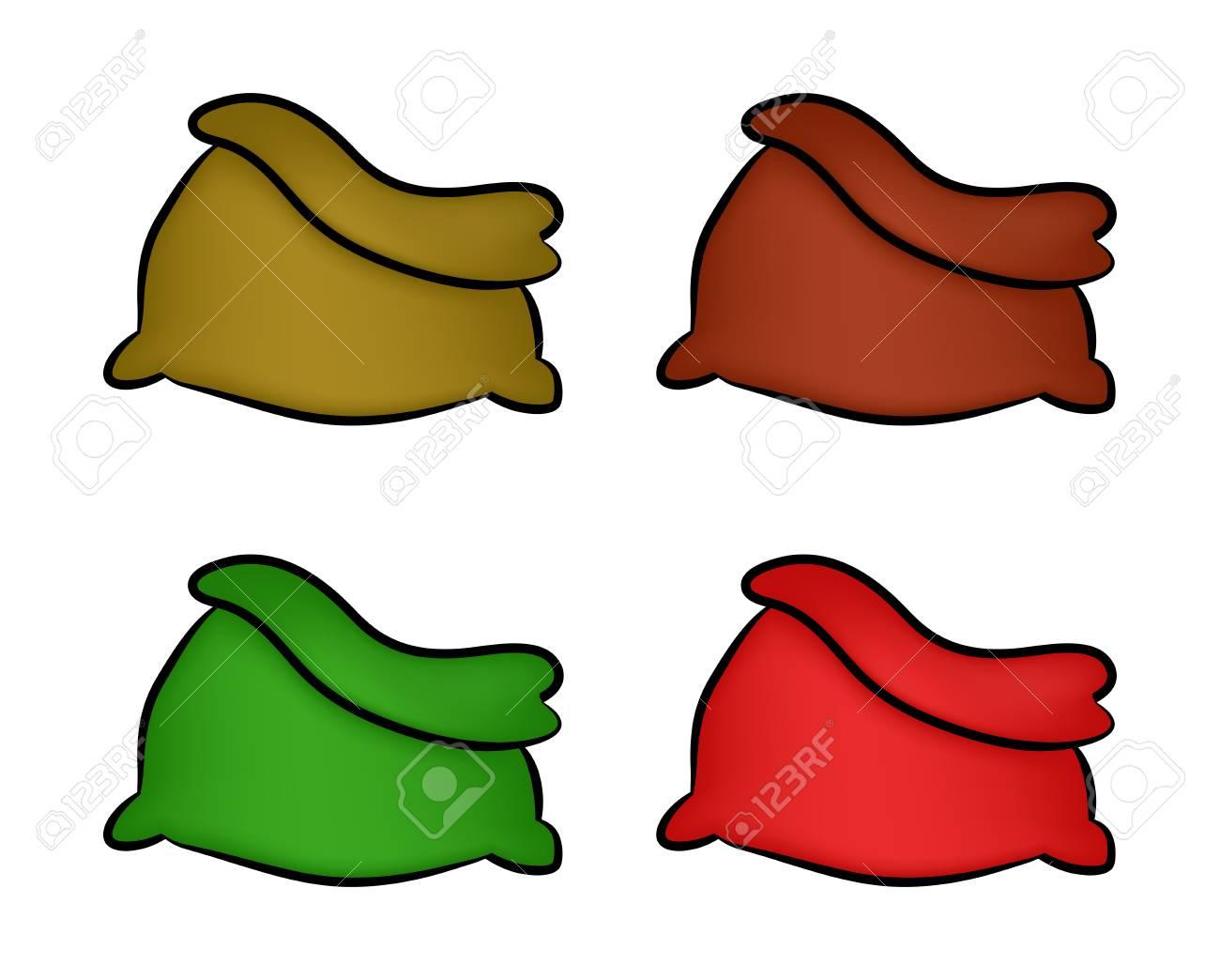 santa money bag christmas empty sack icon set symbol design rh 123rf com winter vector png winter vector free