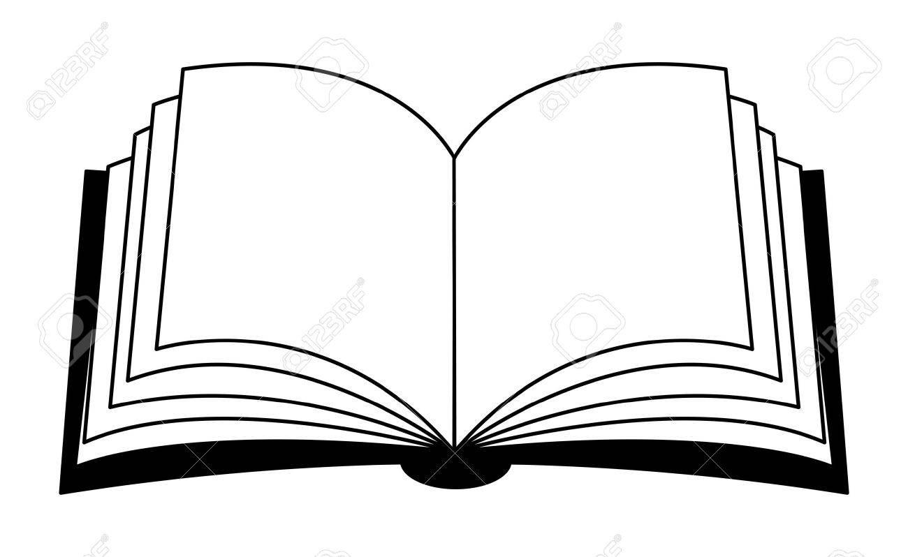 開いた本ベクトル クリップアート シルエット記号アイコンのデザイン