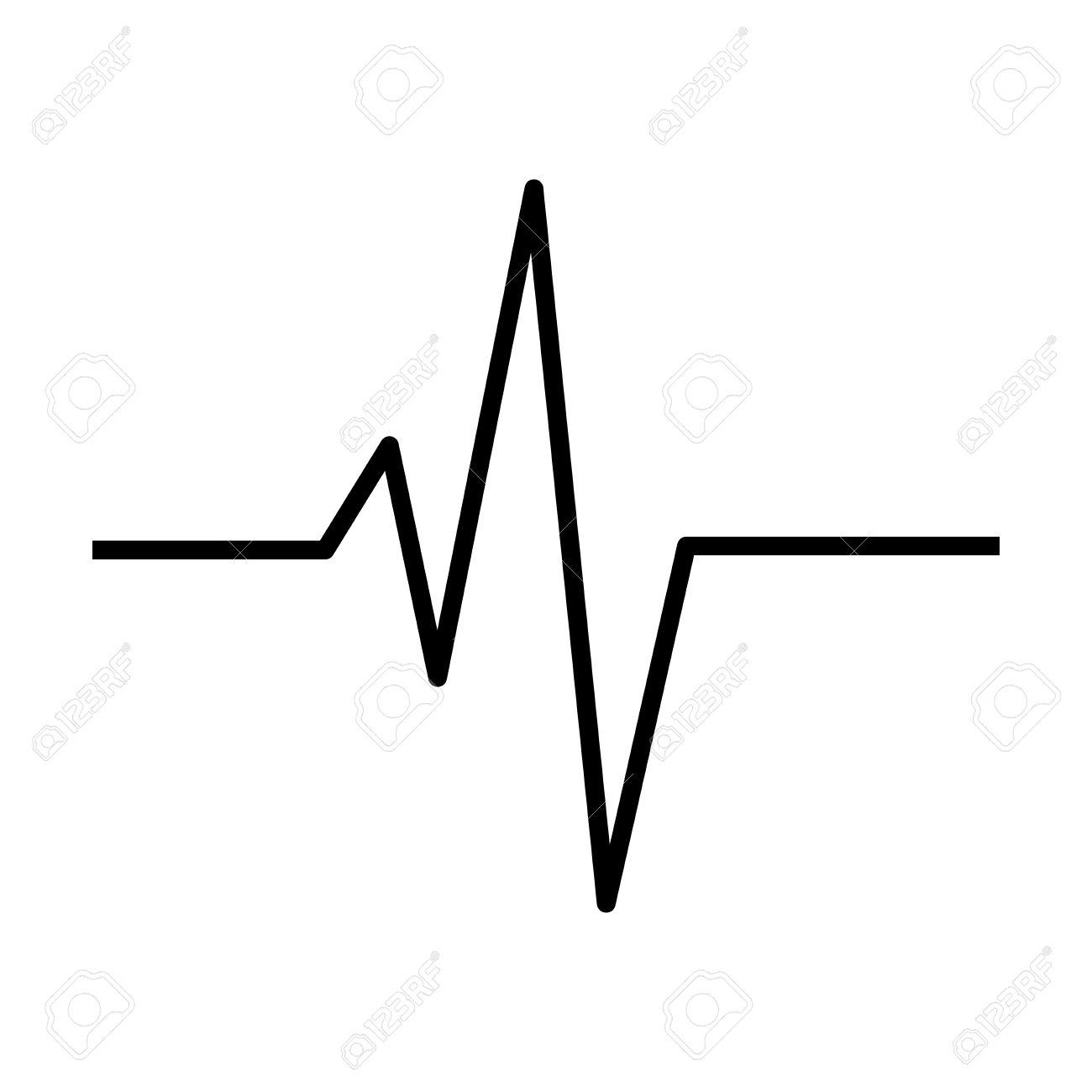 heart rhythm ecg line vector symbol icon design beautiful rh 123rf com ecg vector map ecg vector map