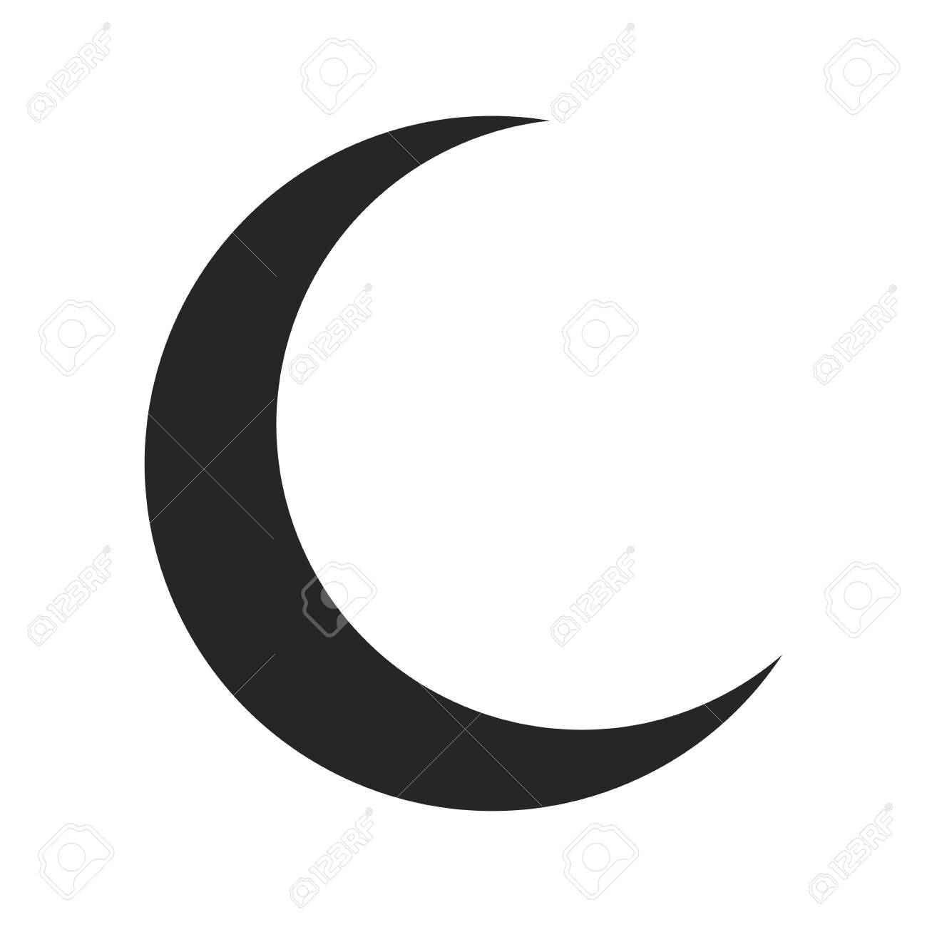 Croissant De Lune Silhouette Vecteur Symbole Icone Design Belle Illustration Isole Sur Fond Blanc Clip Art Libres De Droits Vecteurs Et Illustration Image 69824235