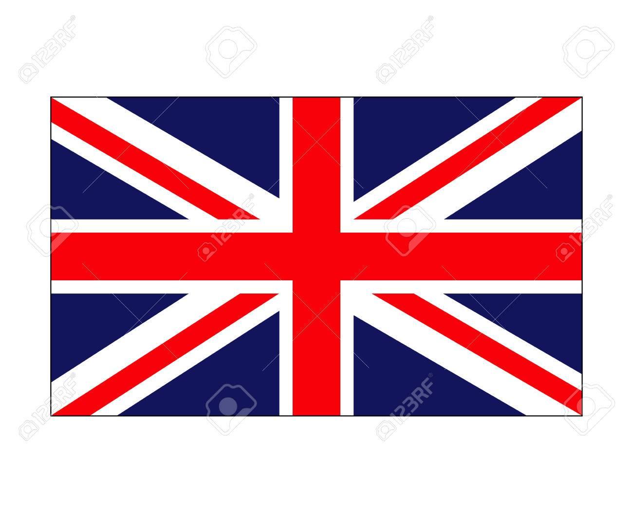 Uk Flag England Symbol Vector Symbol Icon Design Beautiful
