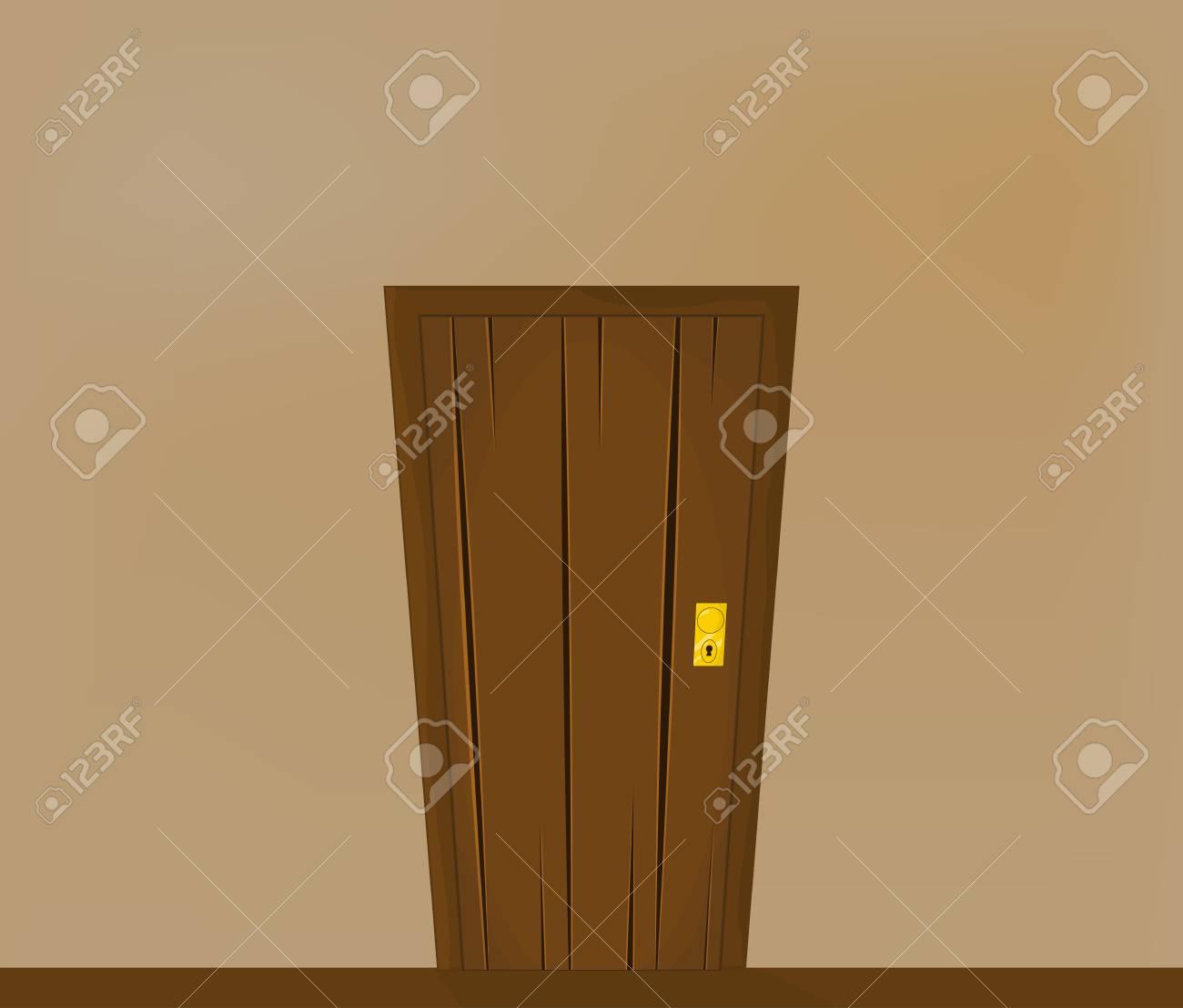 美しい廊下のドアの壁紙デザイン イラストをバナーのイラスト素材 ベクタ Image 75643552