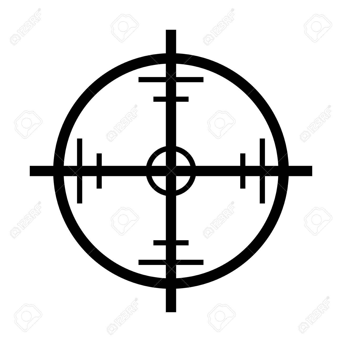 crosshair target vector symbol icon design beautiful illustration rh 123rf com