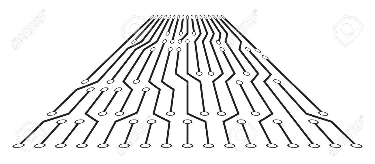 High Tech Circuit Board Texture Beautiful Banner Wallpaper Design ...