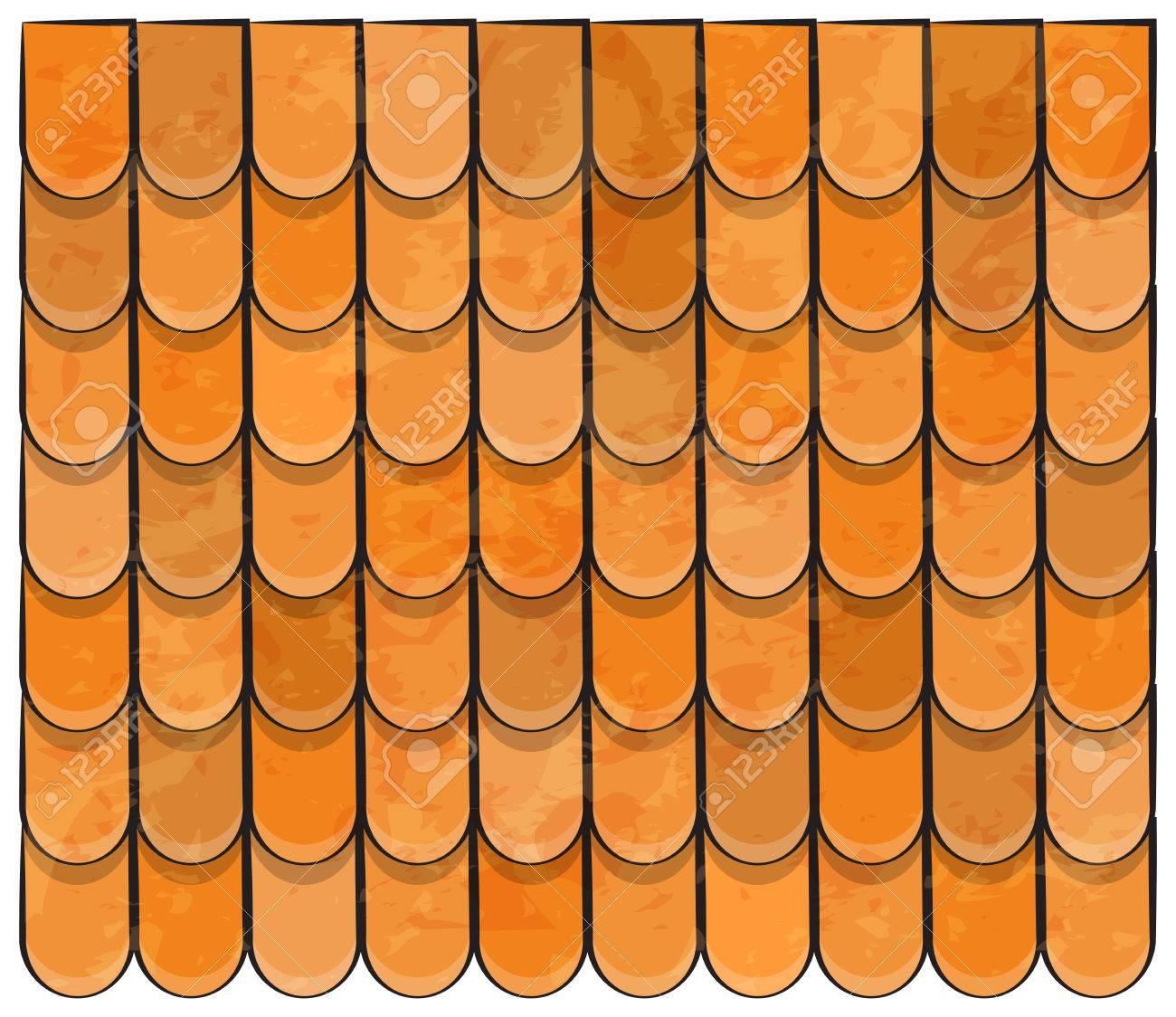 屋根タイルの美しいテクスチャーの壁紙デザイン イラストをバナーの