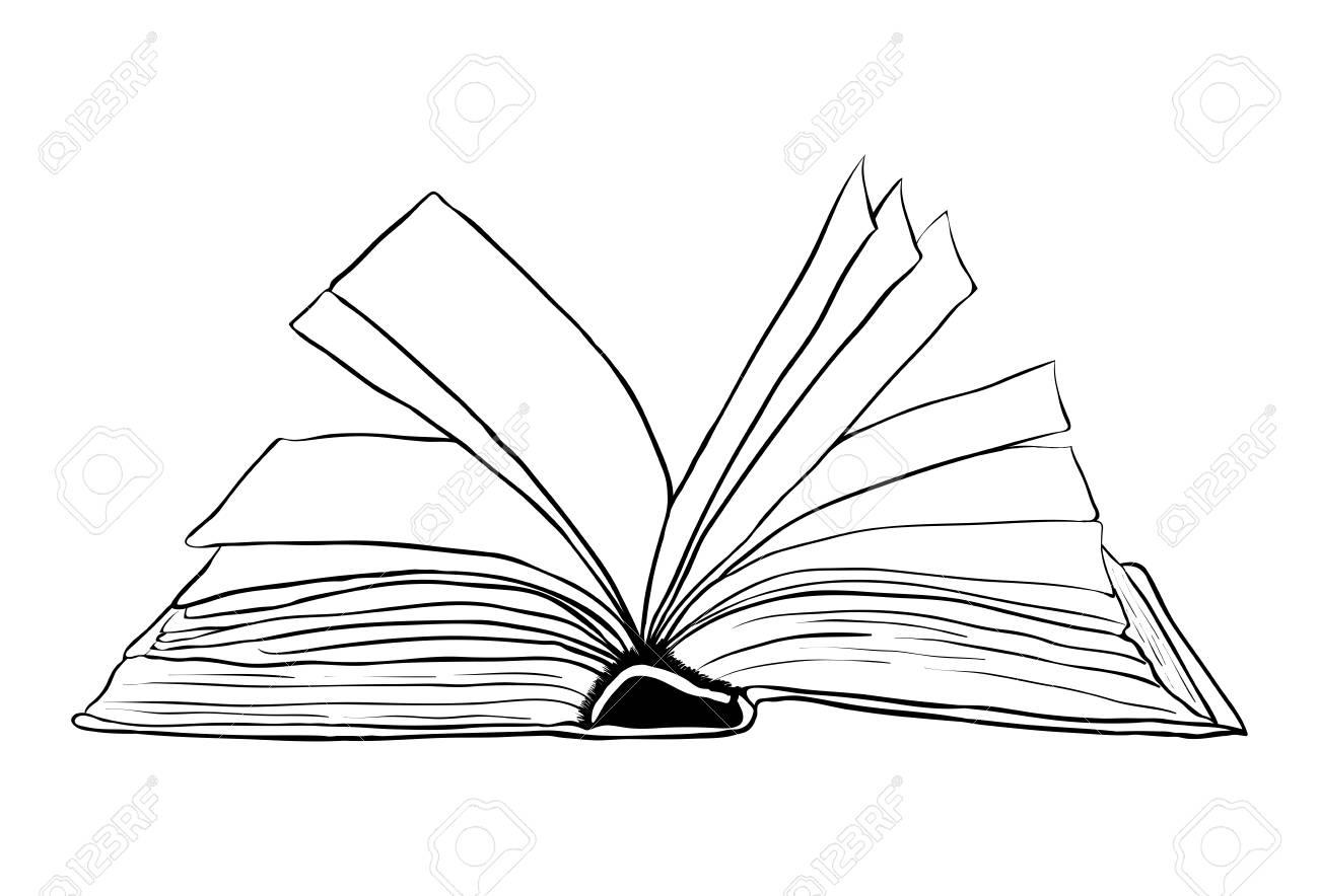 Conception De Livre Ouvert Contour Vecteur Symbole Icone Belle Illustration Isolee Sur Fond Blanc
