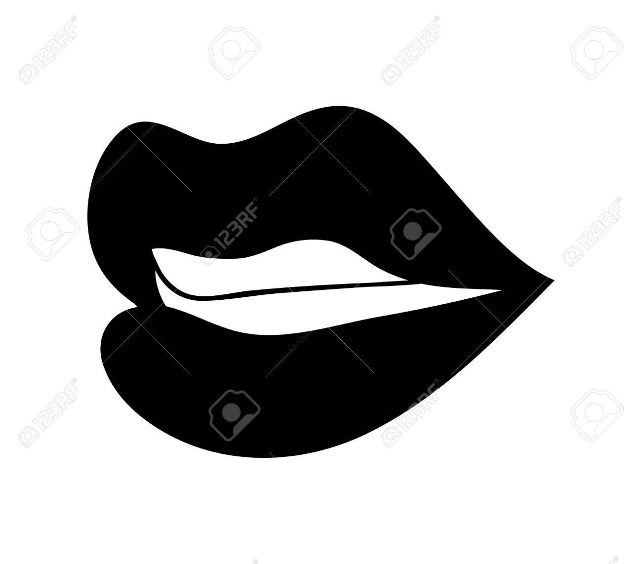 lips with teeth cartoon vector symbol icon design beautiful rh 123rf com vector lips black and white vector lips png