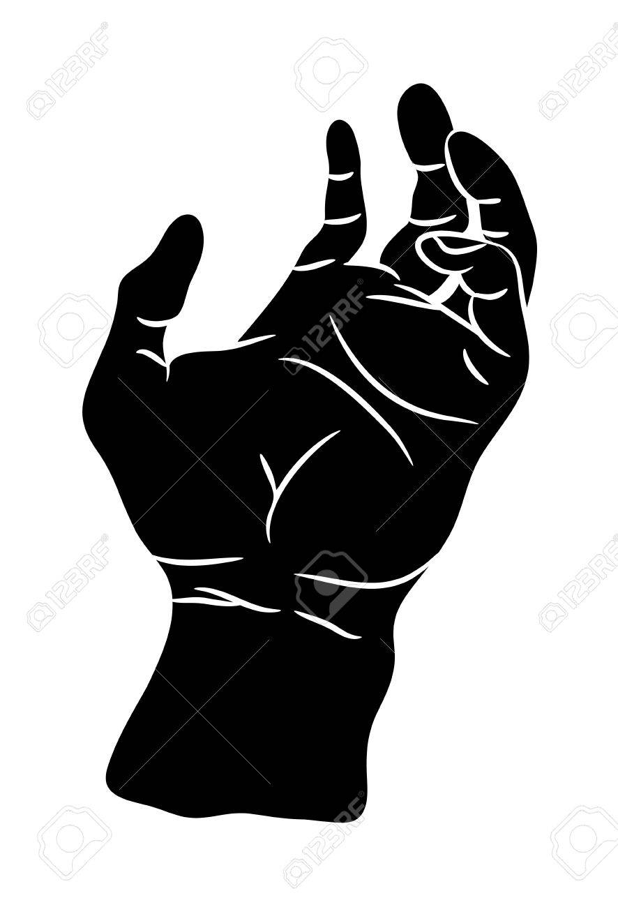 Hand Palm Vector Symbol Icon Design Beautiful Illustration Isolated