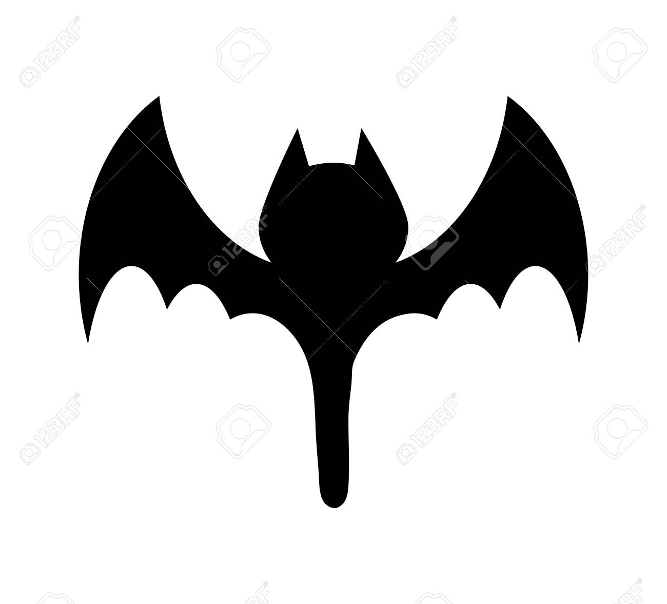 a halloween bat silhouette vector design isolated on white background stock vector 88617224