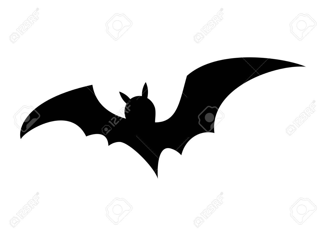 a halloween bat silhouette vector design isolated on white background stock vector 88617227