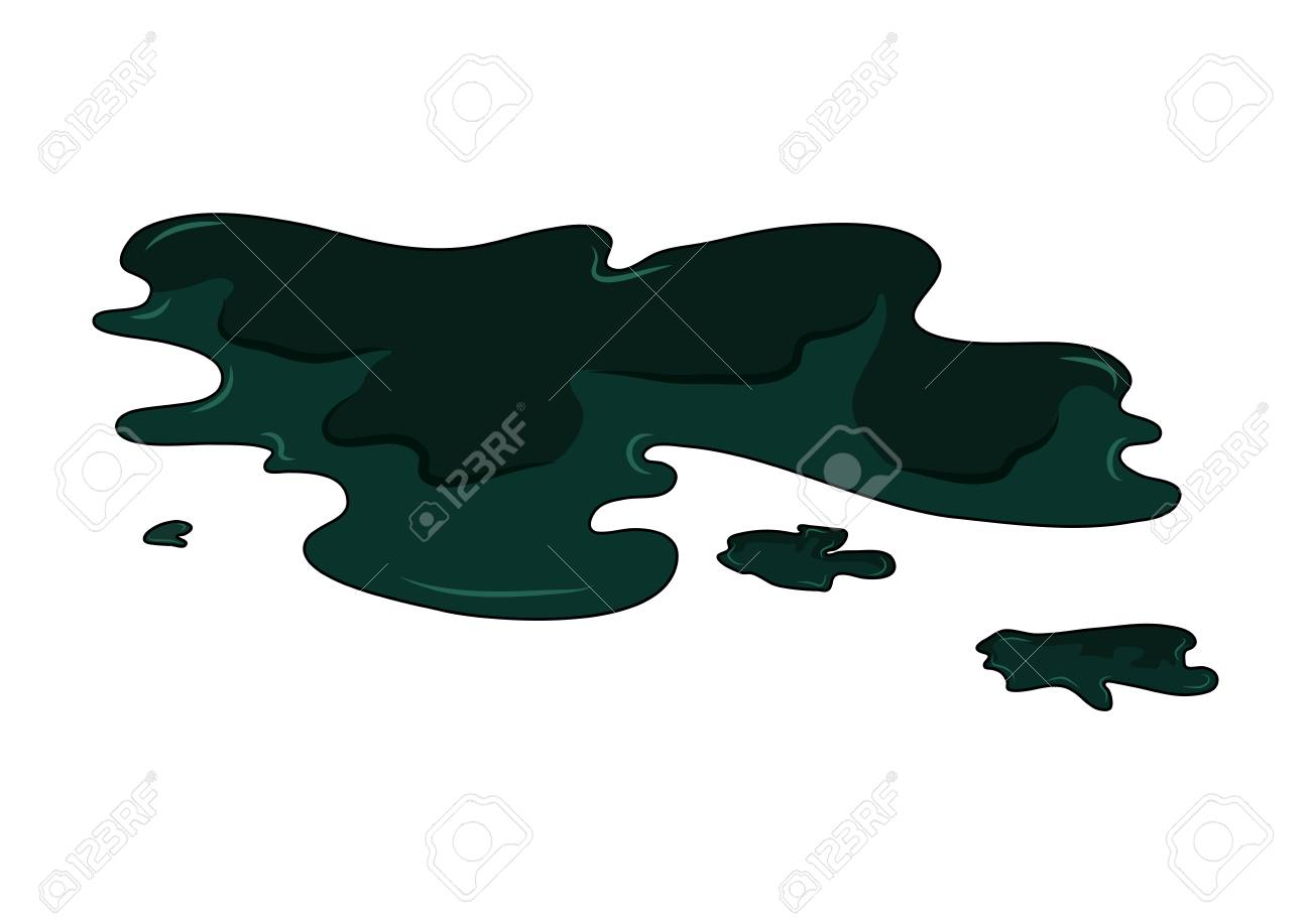 Oil puddle simple vector design isolated on white - 103239896