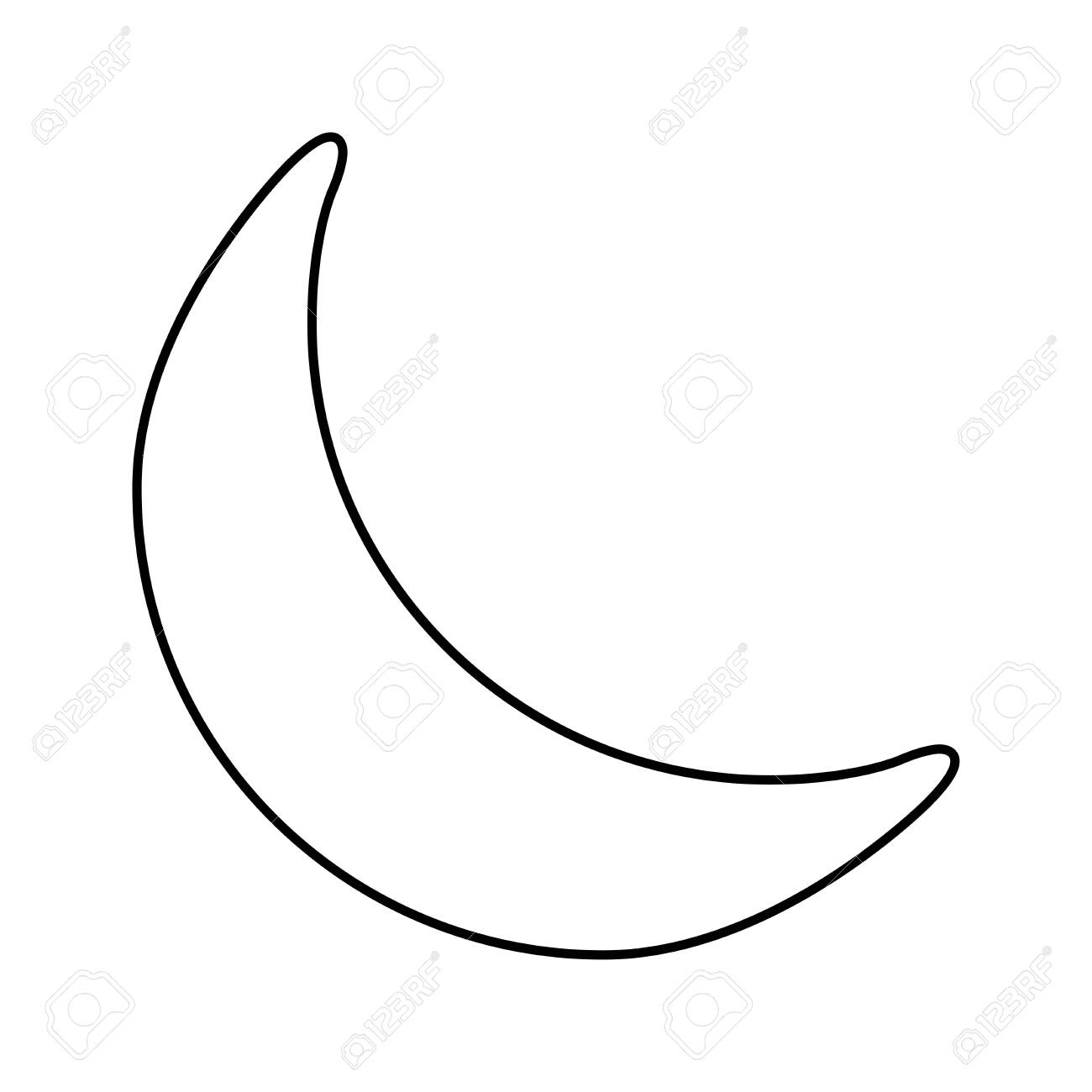 crescent moon outline vector moon for coloring book symbol royalty free cliparts vectors and stock illustration image 136634336 crescent moon outline vector moon for coloring book symbol