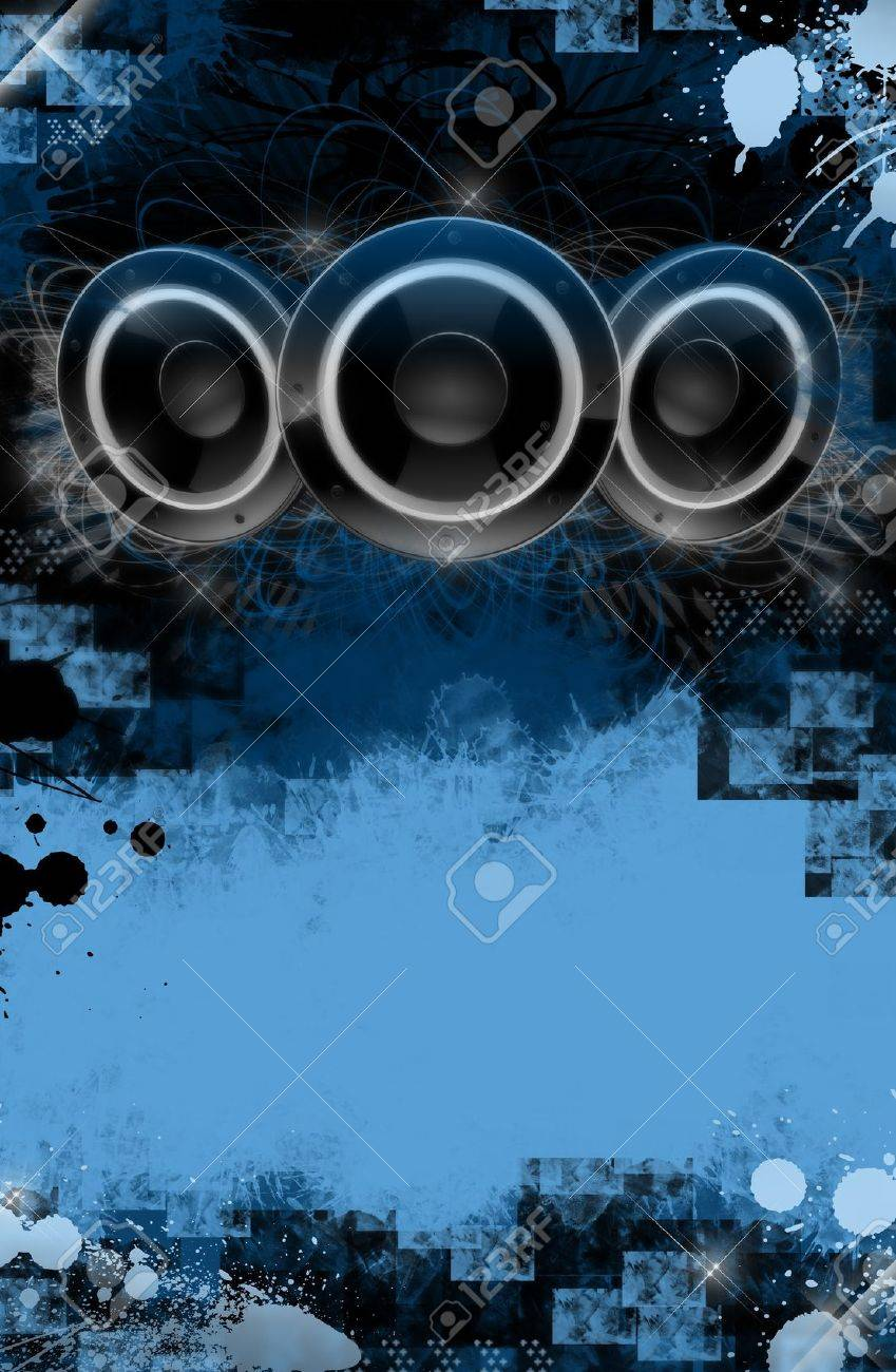 Grunge Music Event Poster Background Blue And Black Cool Grunge