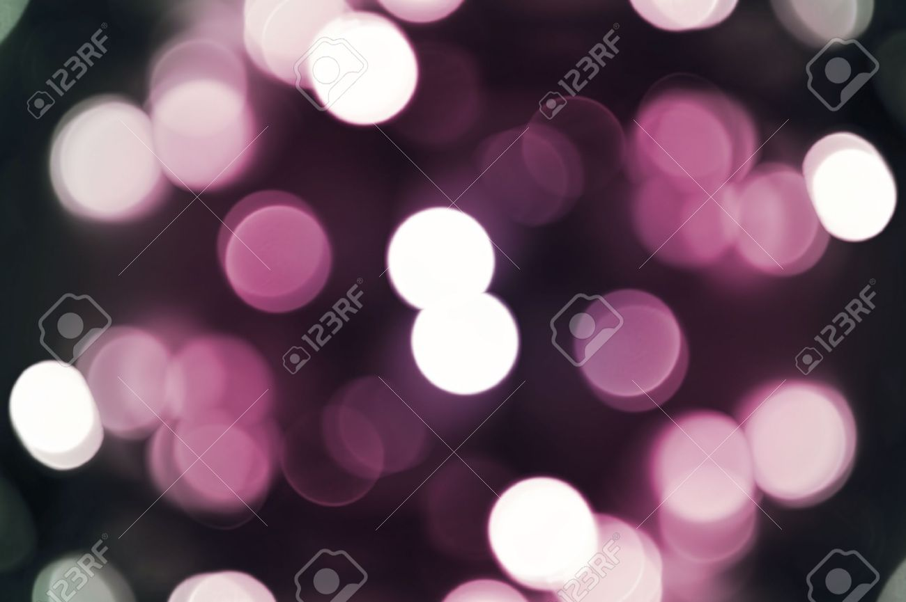 Pinky Bokeh Background Cool Out Of Focus Christmas Lights Dark Pink Stock