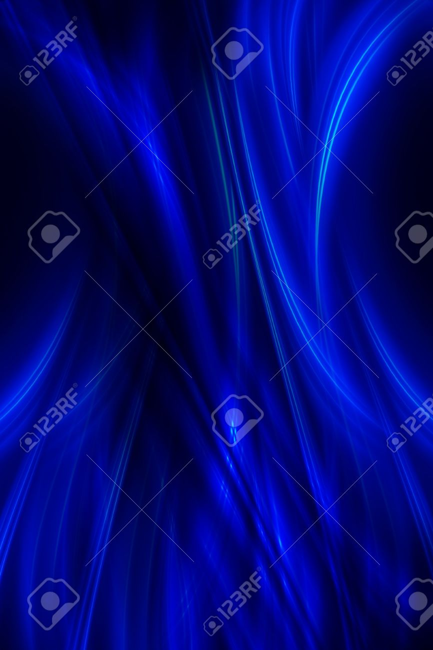 Dark Blue Abstract Background. Dark Blue Glowing Rays on Black Background. Elegant Vertical Background. Stock Photo - 10724562