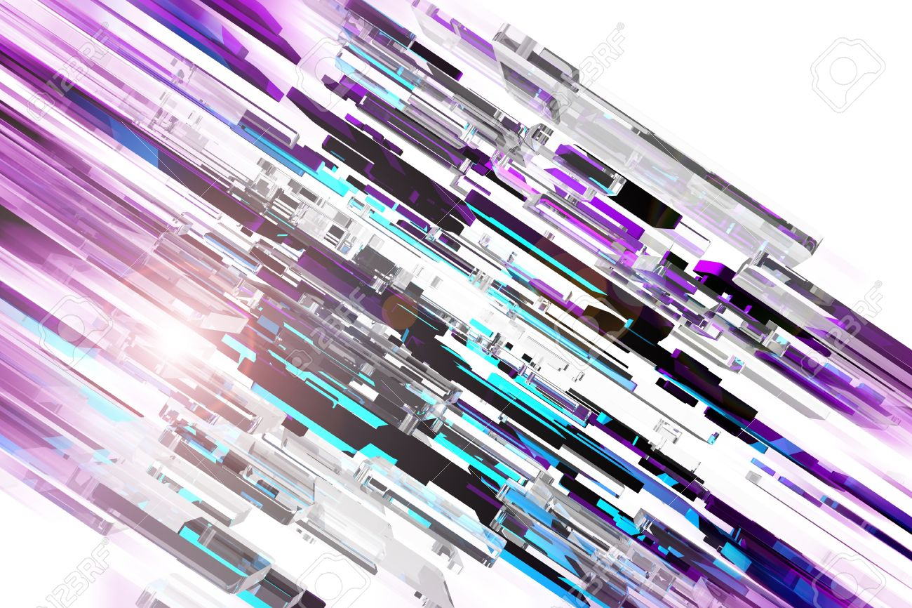 Modern Abstract Background Design. 3D Glassy Colorful Blocks.. Stock ...